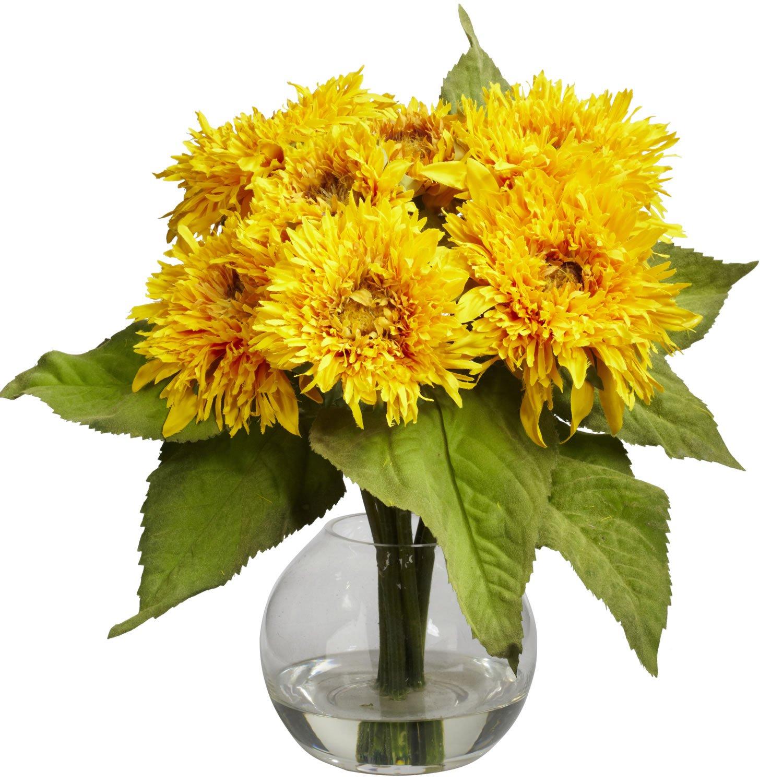 Nearly Natural Golden Sunflower Arrangement #4906