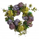 Nearly Natural 24 in Mixed Hydrangea Wreath  Item Number: 4666