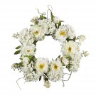 "Nearly Natural 20"" Peony Hydrangea Wreath  Item Number: 4690"