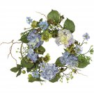 "Nearly Natural 20"" Hydrangea Wreath  Item Number: 4642"