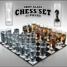 Shot Glass Chess Set- 32 Pieces Chess Board Not included New