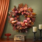 "Nearly Natural Pumpkin Wreath 28"" #4648"
