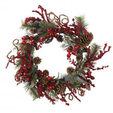 24� Assorted Berry Wreath 4838