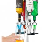 LED Illuminated Bar Caddy- 4 Bottle Liquor Dispenser [USD-LED4-BLUE]