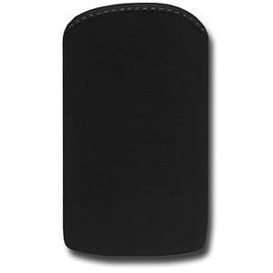 Amzer® Perfect Fashion Pouch Slide-In Soft Case - Onyx Black 82280