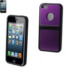 Reiko METALLIC Protector Cover IPHONE5 WITH 2-WAY KICKSTAND PURPLE #MPC03-IPHONE5PP