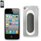 REIKO METALLIC Protector Cover bend back viewing stand IPHONE4s WHITE #MPC04-IPHONE4SWH