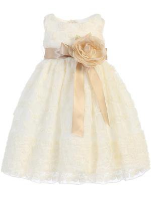 Ivory Embroidered tulle dress BL231by Lito
