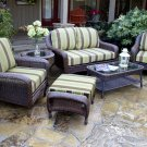 Tortuga Sea Pines  6-Piece Deep Seating Set with Loveseat  Sea Pine Fabric option