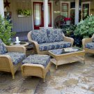 Tortuga Sea Pines 6-Piece Deep Seating Set with Loveseat Sunbrella Fabric option