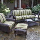 Tortuga Sea Pines Fabric 6-Piece Seating Set with Sofa LEX-651