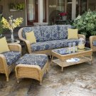 Tortuga Sea Pines 6-Piece Seating Set with Sofa Sunbrella Fabric LEX-651