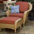 Tortuga Sea Pines Chair & Ottoman Bundle LEX-CO1 Lexington Fabric