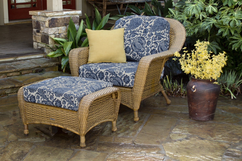 Tortuga Sea Pines Chair & Ottoman Bundle LEX-CO1 Sunbrella
