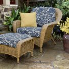Tortuga Sea Pines Chair & Ottoman Bundle LEX-CO1 Sunbrella Fabrics