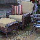 TORTUGA Sea Pines Chair, Ottoman, & Side Table  LEX-STCO1 LEXINGTON FABRIC