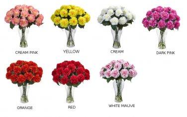 Blooming Carnation Arrangement w/Vase: 1403