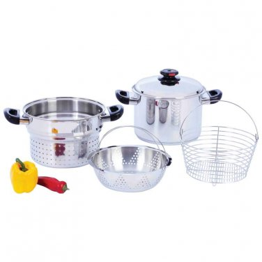 Steam Control� 8qt T304 Stainless Steel Stockpot/Spaghetti Cooker KT82