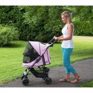 Happy Trails No-Zip Pet Stroller - Pink Diamond PG8100NZPD
