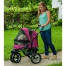 No-Zip Double Pet Stroller - Boysenberry PG8700NZBB
