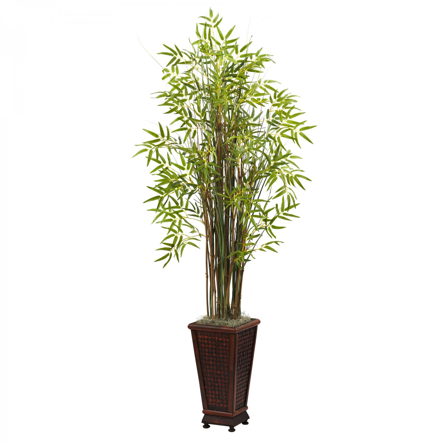 Nearly Natural 5.5� Grass Bamboo Plant w/Decorative Planter 6746