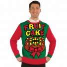 Christmas Xmas Sweater Fruit Cake XL  51614