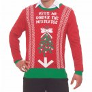 Christmas Xmas Gag Sweater Under the Mistletoe XL 46415