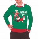 Christmas Xmas Naughty Santa Gag Sweater XL 46418