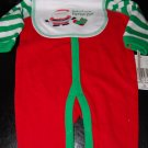 Absorba Christmas Red Jumper Green White Sleeves 3-6Months