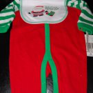 Absorba Christmas Red Jumper Green White Sleeves 0-3Months
