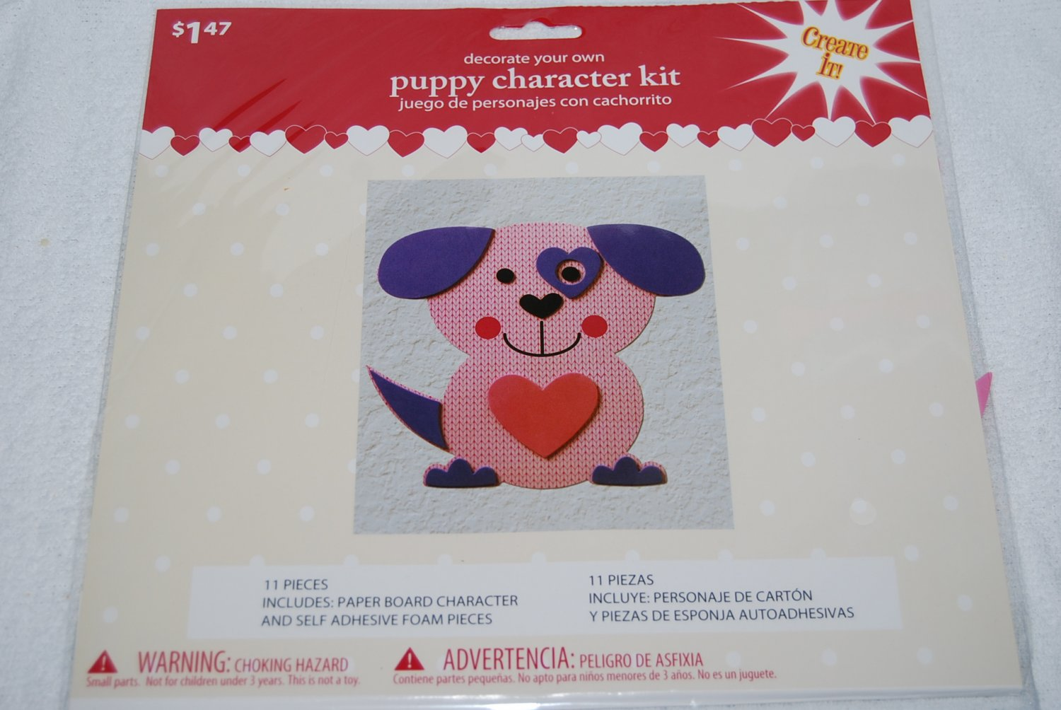 Decorate Your Own Pink Puppy Character Kit
