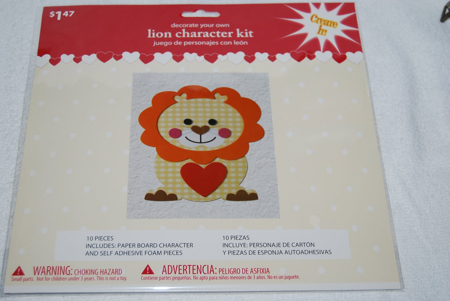 Decorate Your Own Yellow Lion Character Kit
