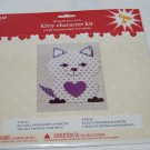 Decorate Your Own Purple Kitty Character Kit