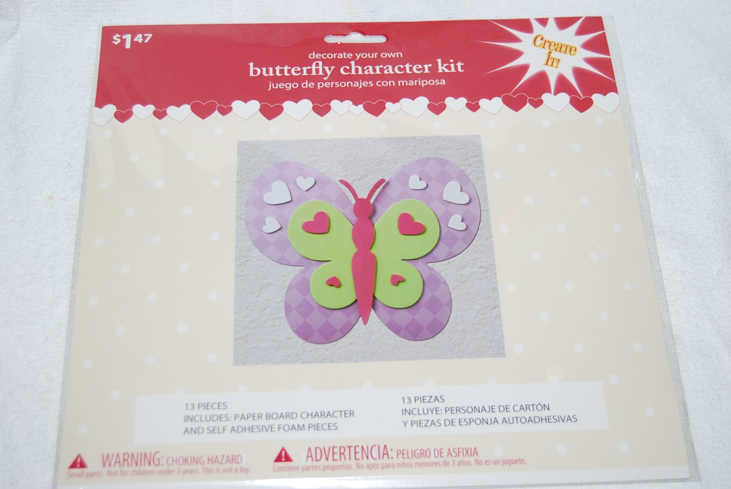 Decorate Your Own Purple Butterfly Character Kit