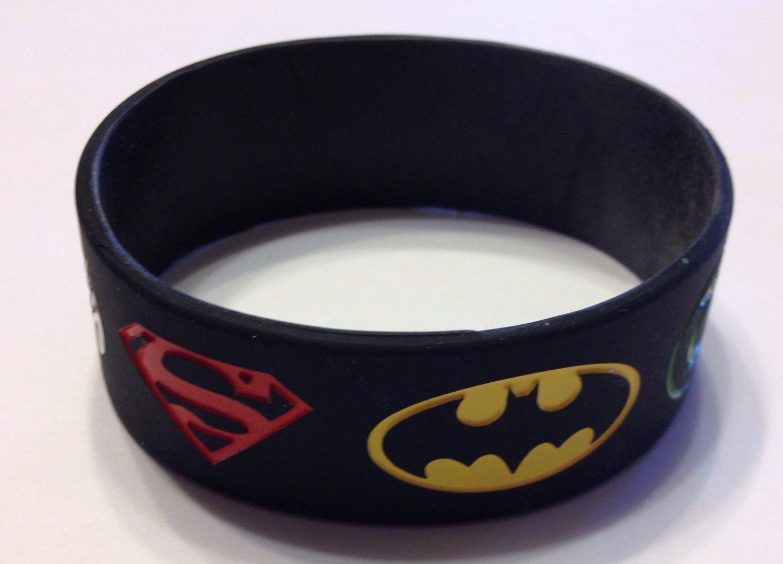 Justice League Black Hero Logo Wristband Bracelet Silicone