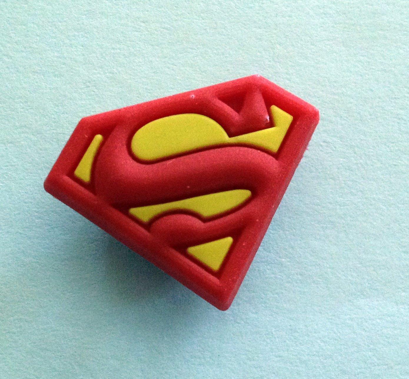 Superman Comic Book Emblem Shoe Charm Party Favors