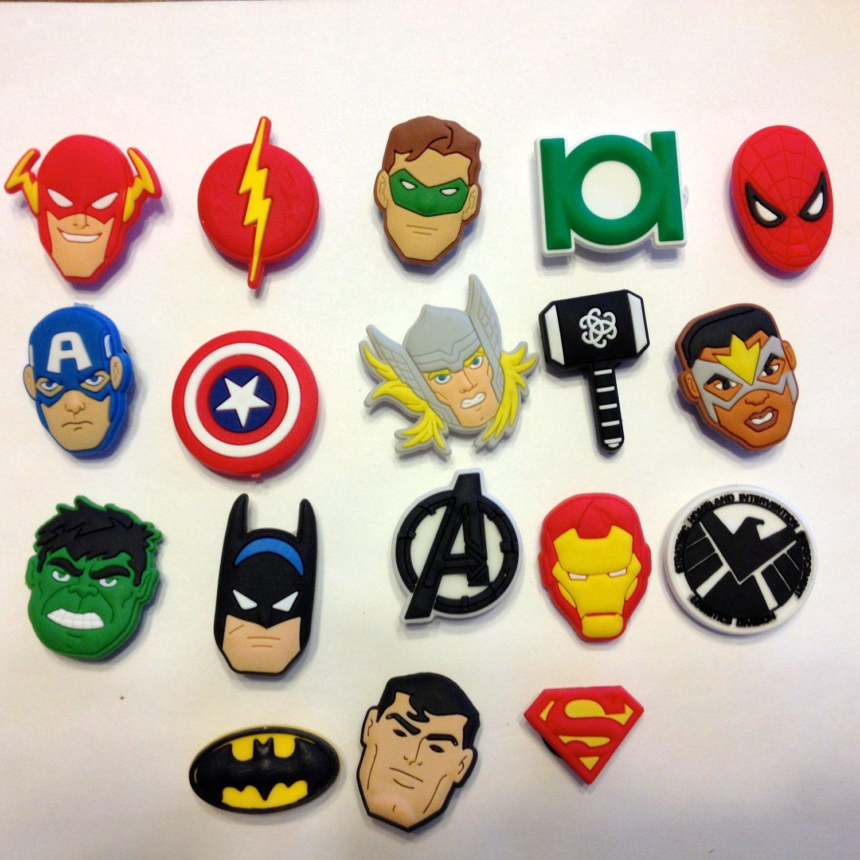 Avenger Comic Book Hero Shoe Charms Party Favors