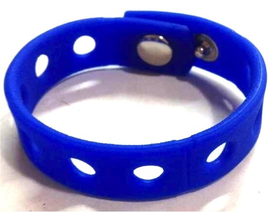 """Dark Blue Silicone Wristband Bracelets Holds Charms 7"""" or 8"""""""