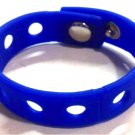"Dark Blue Silicone Wristband Bracelets Holds Charms 7"" or 8"""
