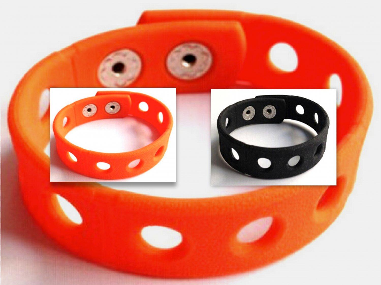 """Halloween 10 Pack Orange & Black Bracelets Holds Charms 7"""" or 8"""""""