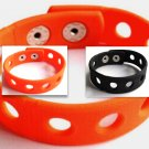 "Halloween 10 Pack Orange & Black Bracelets Holds Charms 7"" or 8"""