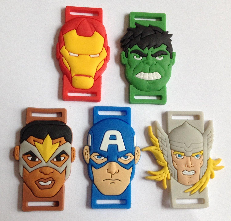PVC Shoe Lace Cartoon Character Inserts - Avengers