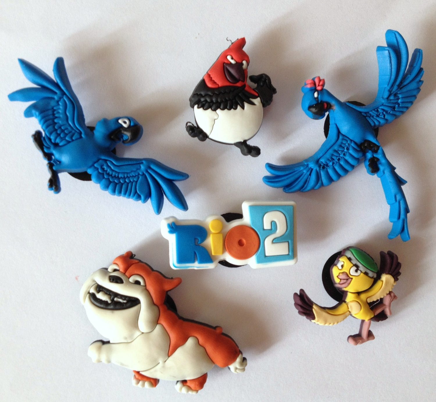 Rio 2 Movie 6pc Shoe Charms Party Favors