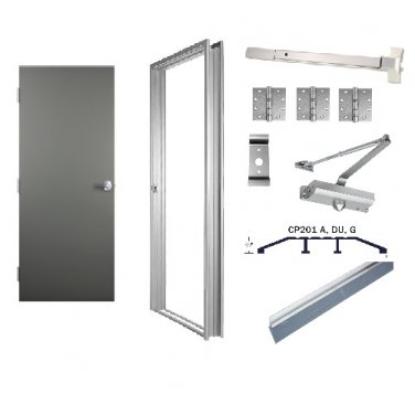 Commercial Emergency Exit Door Package 36 X 80 Door Opening