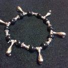 Silver Bowling Pin/Ball Bracelet