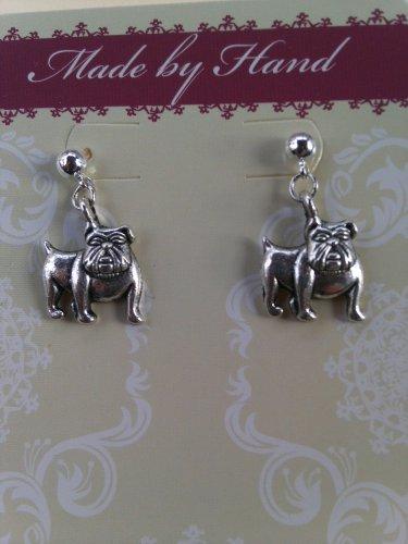 Bulldog Dangling Post Earrings