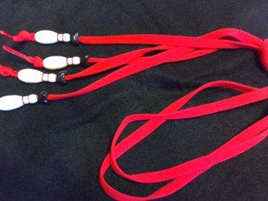 Bowling Pin Shoelaces - BULLDOG colors
