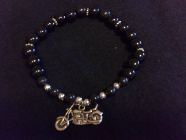 Motorcycle Beaded Bracelet
