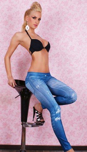 Ladies Tights Leggings Fashion  Blue Legging Pants Jeans