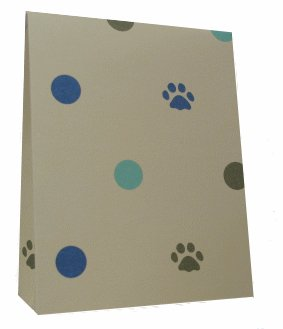 10 Kitty Cat Treat Cartons - Kitty Cat Paw and Polka Dot Design - includes matching tags
